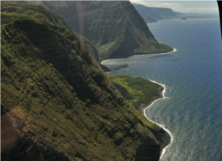 Hawaii Coastline from helicopter