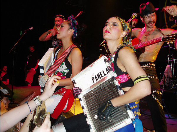 Elizabeth and Pam Gogol Bordello Fox Theatre Boulder Colorado