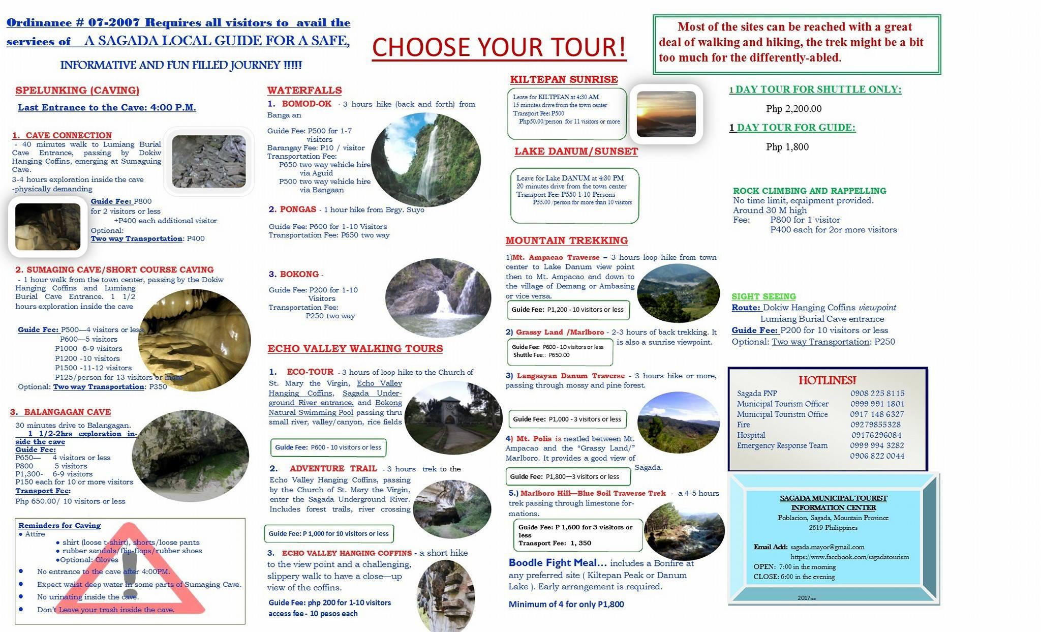 sagada standard tour rates